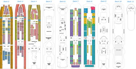 Rhapsody Of The Seas Deck Plan by Royal Caribbean Decks