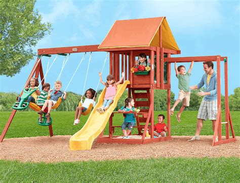 Big Backyard Playset by Save 150 On Big Backyard Cedarbrook Wood Swing Set