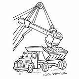 Truck Coloring Crane Pages Printable Construction Chuck sketch template