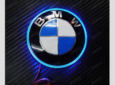 82mm BMW 3 5 7 Series X5 X6 Trunk Emblem Background LED