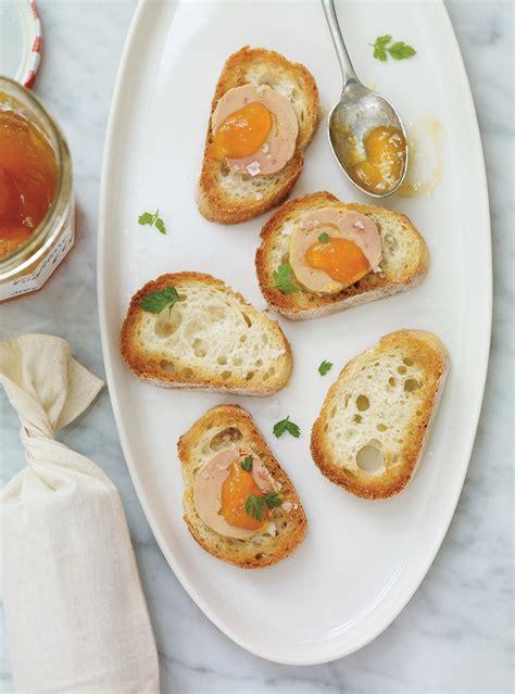 canapé au foie gras canapés au foie gras et aux abricots ricardo