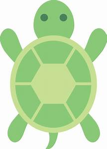 Cute Green Turtle Clip Art - Free Clip Art