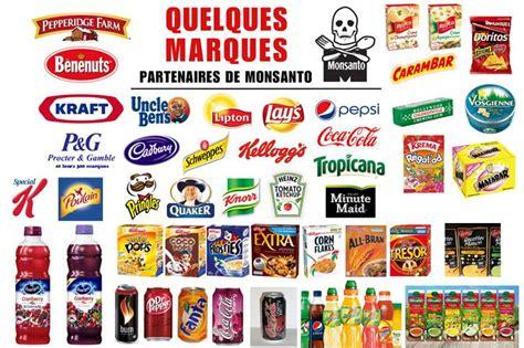 marques cuisine monsanto les produits à boycotter liste des marques à
