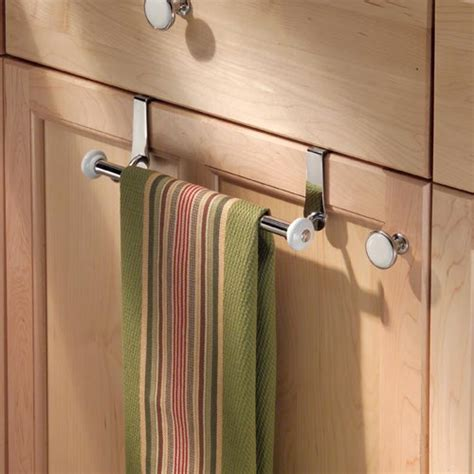 York Over Cabinet Towel Bar In Kitchen Towel Holders