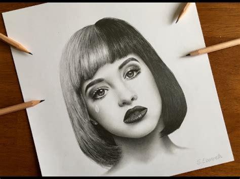 realistic graphite drawing melanie martinez youtube