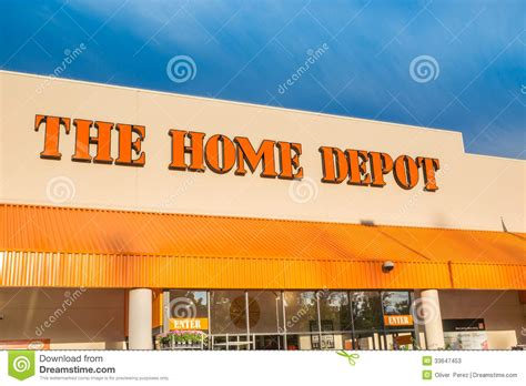 Home Depot Stock Cabinets: The Home Depot Editorial Stock Photo