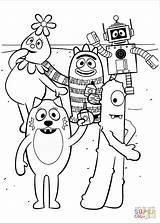 Coloring Gabba Yo Characters Printable Drawing Games Paper sketch template