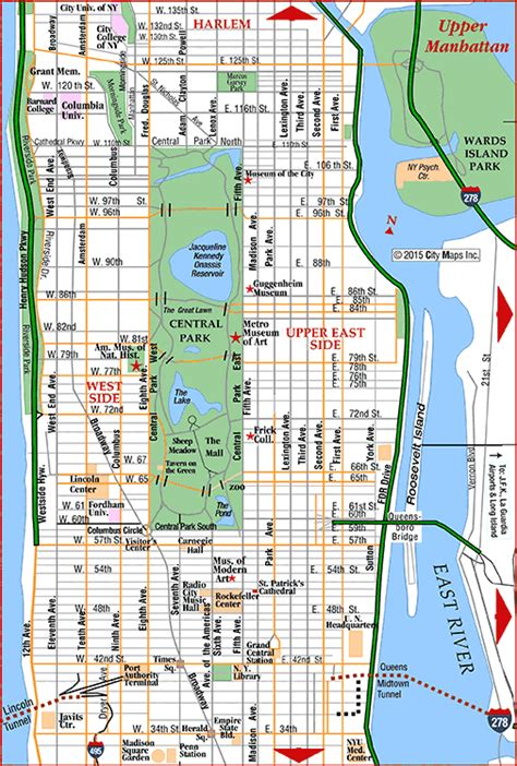 map  upper manhattan travel road trip  york