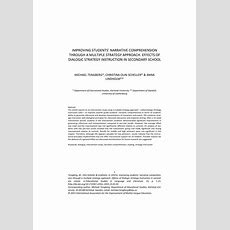 (pdf) Improving Students' Narrative Comprehension Through A Multiple Strategy Approach Effects