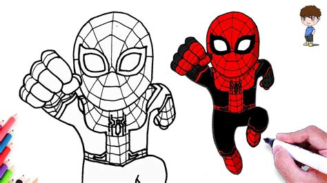suit spiderman drawing   draw spiderman