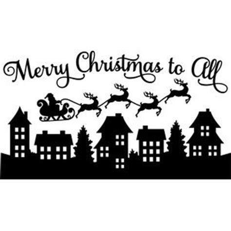 christmas village trees silhouette template silhouette design store view design 161554 santa merry
