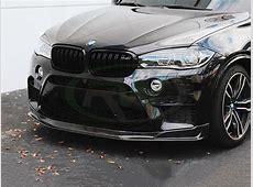 BMW F85 X5M F86 X6M Carbon Fiber Front Lip Spoiler 2015+