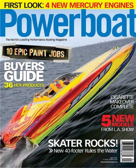 Cigarette Boat Magazine by Powerboat Mag Performance Test Driver Setup Specialist