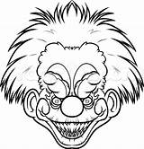 Scary Killer Easy Draw Clown Drawing Klown Clowns Face Drawings Step Coloring Pages Klowns Outer Space Line Dragoart Getdrawings Aliens sketch template