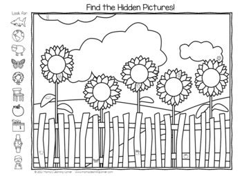 summer hidden picture worksheets  mamas learning corner