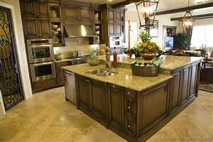 pictures of kitchens traditional dark wood walnut color 763