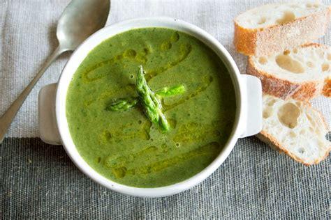 asparagus soup spinach pescetarian kitchen ingredients