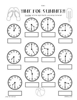 telling time to half hour geotwitter kids activities