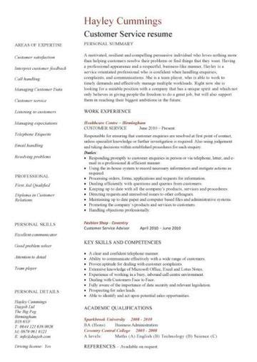 Sle Of Resume For Customer Service by Customer Service Resume Templates Skills Customer