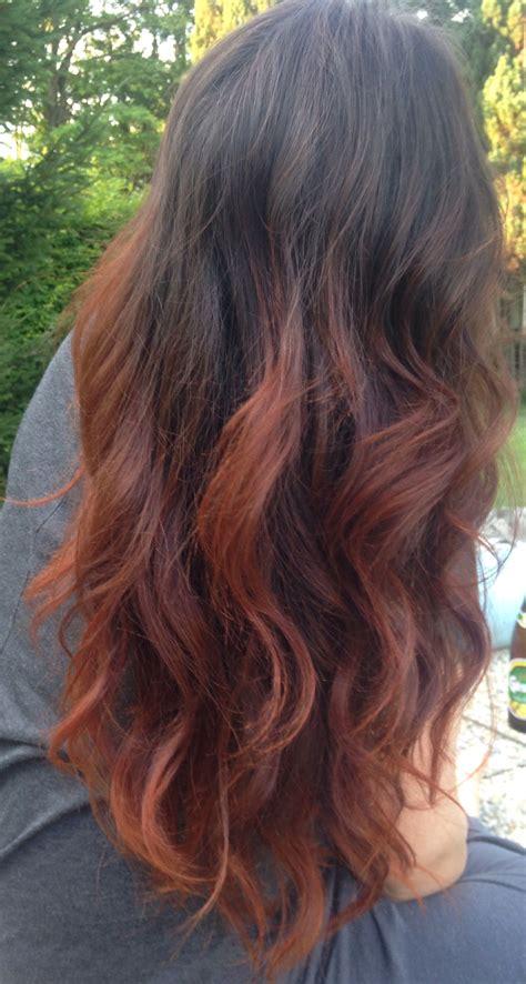 My New Copper Ombre Dip Dye Hair Hair In 2019
