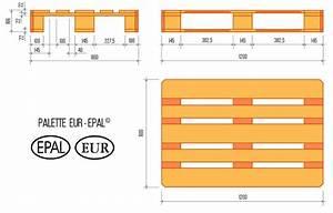 Dimension Palette Europe : palette europe la palette eur epal 1200x800mm palembal ~ Dallasstarsshop.com Idées de Décoration