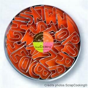 Emporte Piece Lettre : bo te de 26 lettres de l 39 alphabet scrapcooking bo te de ~ Melissatoandfro.com Idées de Décoration