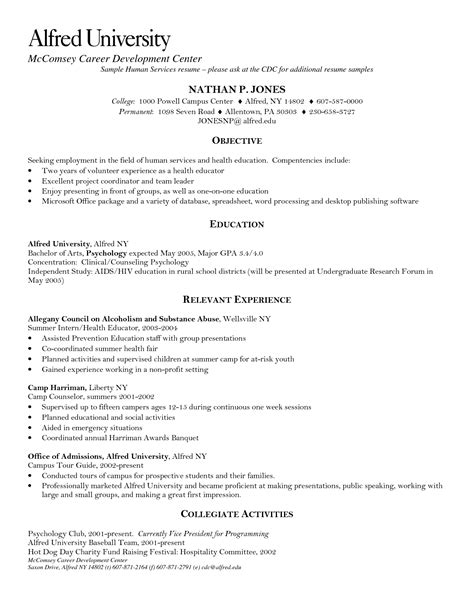 Objective For Resume For Human Services by Best Photos Of Exles Of Professional Services Human Services Resume Exles Professional