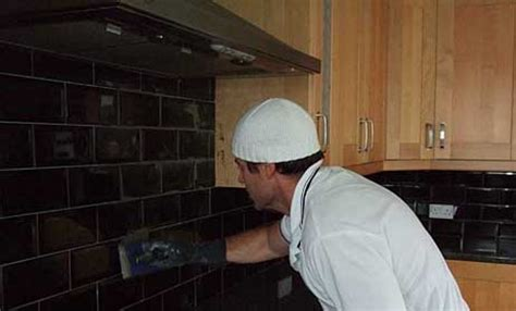 black brick tiles kitchen kitchen tiling projects durham tiling 4651