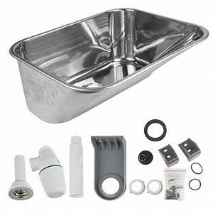 Waschbecken Für Waschküche : edelstahl ausgussbecken 53x43x22cm 40l waschbecken keller garten ~ Sanjose-hotels-ca.com Haus und Dekorationen