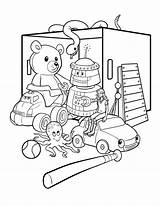 Coloring Box Toy Pages Printable Getcolorings sketch template