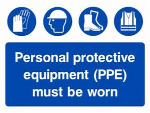 PPE must be worn general multi message sign