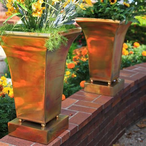 Copper Outdoor Planters by 64 Best Garden Trellis Planters And Containers Images On