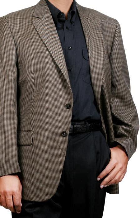 dark color black tan sport coat  button winter