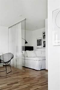Separation Salon Chambre : 53 photos pour trouver la meilleure cloison amovible ~ Zukunftsfamilie.com Idées de Décoration