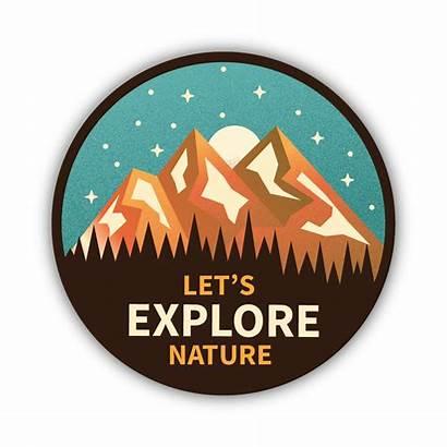Nature Sticker Explore Let Stickers Laptop Aesthetic