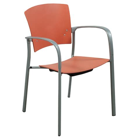 steelcase enea used stack chair orange national office