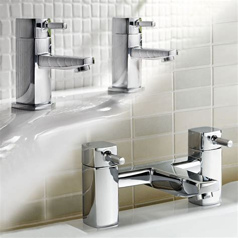 Bathroom Tap Set  Modern Chrome Basin Sink Faucet Bath