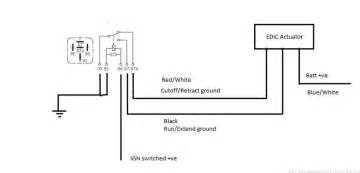 wiring an edic motor and relay