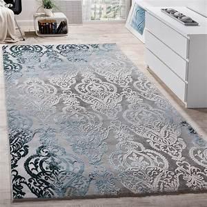 Wohnzimmer Teppich Grau : teppich grau muster ~ Whattoseeinmadrid.com Haus und Dekorationen