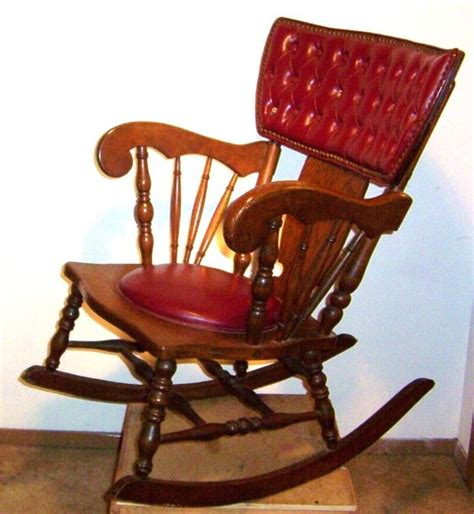 antique leather and wood rocking chair collectors weekly