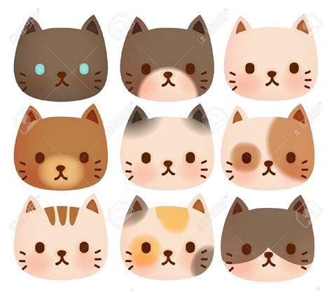 cat face stock vector illustration  royalty  cat