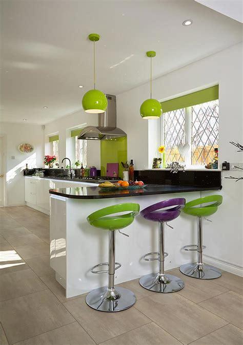 cuisine verte decoration cuisine multicolore