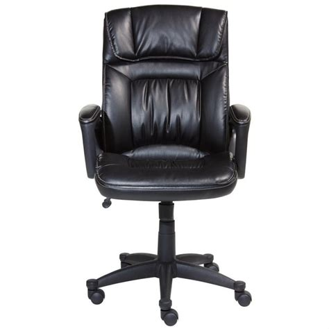 serta office chair in puresoft smooth black faux leather