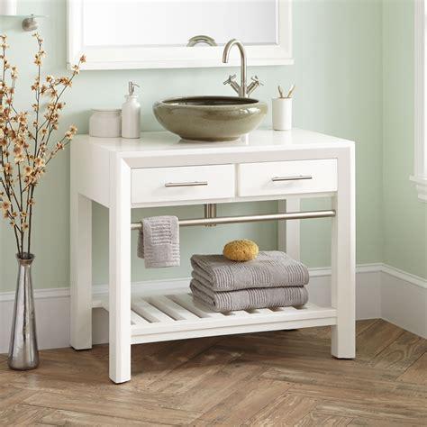 verlyn mahogany vessel sink vanity white vessel