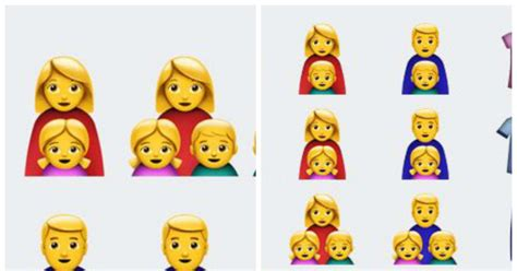 apples ios introduced single parent emojis  people