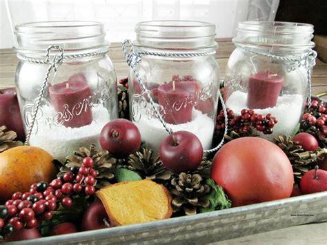 easy mason jar christmas centerpieces