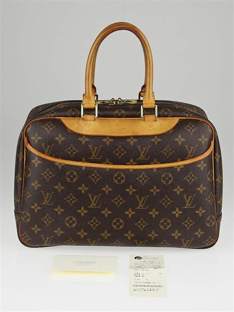 louis vuitton monogram canvas deauville bag yoogis closet