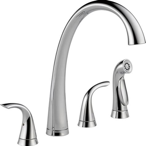 standard kitchen faucet delta foundations 2 handle standard kitchen faucet with