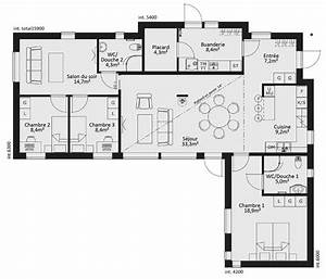 les 25 meilleures idees de la categorie plan maison plain With wonderful modele de plan maison 0 maison plain pied garage double