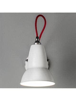 anglepoise duo wall light alpine white with red braided